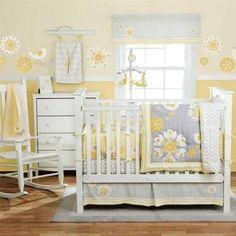 yellow and gray nursery @Jackie Godbold Godbold Suwanski