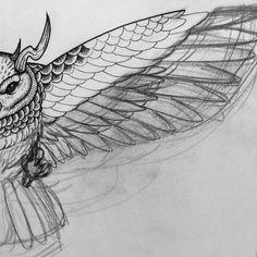 #tattoos #tattoo #oldschool #dark #painting #drawing #illustration #taiwan #taipei #sketch #owl