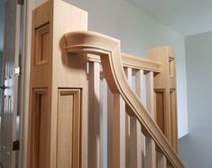 Stair Railing, Stairs, Craftsman Staircase, Newel Posts, Staircase Design, Home Projects, Wall Lights, New Homes, Coming Apart