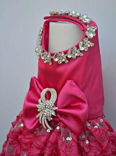 Perro arnés vestido Bling caliente patas rosa boda por KOCouture
