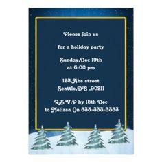 festive Holiday Party Invitations #Christmas #Holidays