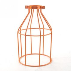 Vintage Steel Bulb Guard Clamp On Metal Lamp Cage Retro Trouble Light Industrial Lamp Covers Lamp Shades Corridor Lighting, Wire Lighting, Cage Light, Light Covers, Flooring, Table, Furniture, Home Decor, Decoration Home