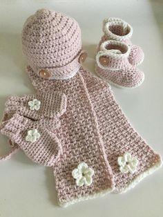 Unieke Baby Of Peuter Set Handmade Muts Sjaal En Wantjes In