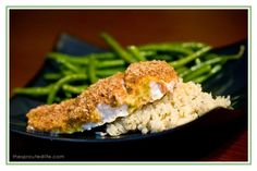 Almond meal crusted honey mustard salmon, made it tonight and it was delicious!