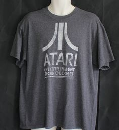 Atari T Shirt Sz XL Gray Mens Short Sleeved Tee Geek Hipster Nerd Ware #unknown #GraphicTee