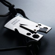The SURVCO Tactical Credit Card Ax is all you need to survive in nature. This 21-function multitool can be transformed into a Tomahawk, Ax, Knife, Scraper, Skinner, Shovel, Arrow, Spear, Spear-Thrower, Saw, Seatbelt Cutter, Bottle Opener, Water Va...