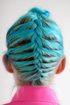 beautiful blue braid