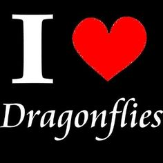 New Custom Screen Printed T-shirt I Heart Dragonflies Small - 4X