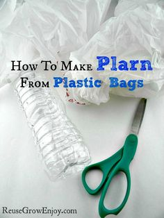 Making plarn (plastic yarn) is easier then you may think. Head over to the blog and I will show you How To Make Plarn! http://reusegrowenjoy.com/how-to-make-plarn/