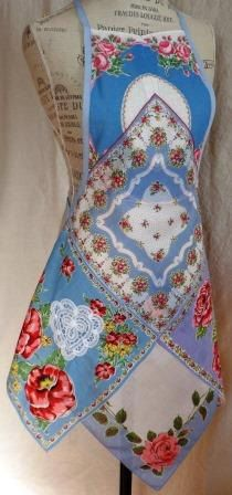 Vintage Hankie Apron by ZigZagity on Etsy, $28.00