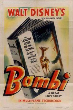 Bambi Movies Poster - 69 x 102 cm Walt Disney, Home Disney Movie, Disney Movie Posters, Disney Wiki, Disney Movies, Bambi Disney, Disney Stuff, Disney Art, Animation Film