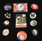 Vintage Mlb Yankees 11 Pins Collectible Buttons Derek Jeter Baseball Lot - Baseball, BUTTONS, Collectible, DEREK, JETER, PINS, Vintage, Yankees