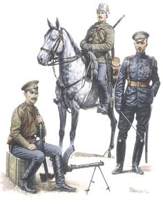 Line Cavalry, Imperial Russian Army, World War One Bombardier Layer, 20th Horse Artillery