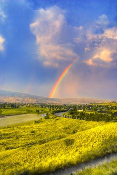 Rainbow over Boise Idaho, by Avi