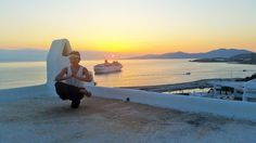 Namaste - sunset from Mykonos  Europe . Greece. Photo @bestworldyet