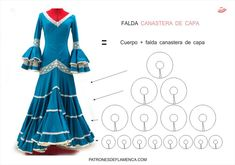 Falda canastera de capa Dance Outfits, Dance Dresses, Stylish Fonts, Dress Making Patterns, Cosplay Tutorial, Fashion Sewing, Sewing Tutorials, Frocks, Evening Dresses