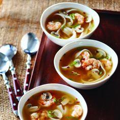 Soupe de crevettes à l'orientale