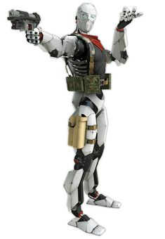 Combat Robot Cain Art - Binary Domain Art Gallery