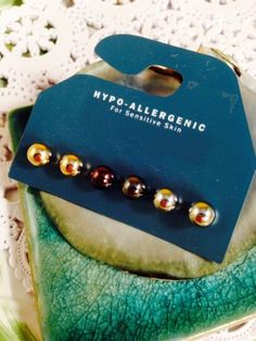 New-Simple-Pearl-Gold-Black-Silver-Stud-Earrings-Hypo-Allergenic-Sensitive-NWT