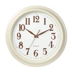 Wall Clock, Cream Plastic