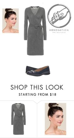 """""""Abnegation Divergent"""" by toinfinityandbeyondcaptain on Polyvore featuring Diane Von Furstenberg, Francesca's and Hush Puppies"""