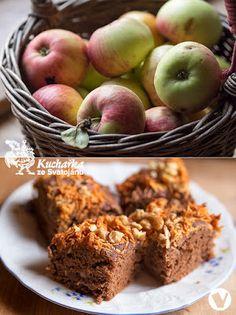 Kuchařka ze Svatojánu: JABLEČNÝ KOLÁČ S OBILNOU KÁVOU Healthy Cake, Mashed Potatoes, Muffin, Low Carb, Apple, Fruit, Breakfast, Ethnic Recipes, Sweet