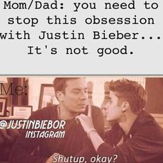 my parents tell me this all the time, my mom even told me that he's just a distraction to me