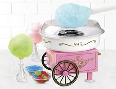 Cotton Candy Maker Hard Electric Vintage Nostalgia Machine Sugar Free Party Pink…