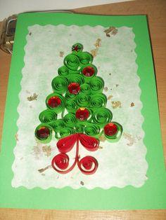 vánoční přání - qulling