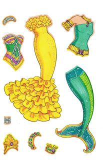 Miss Missy Paper Dolls: mermaid paper dolls