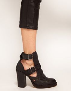 ASOS ACCUSE Leather Ankle Boots with Weave Detail: not sure how I feel about these yet