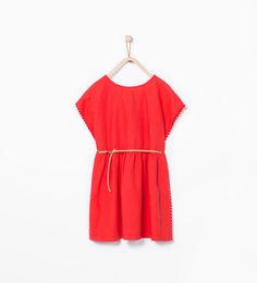 Loose dress with belt-View all-Dresses-Girl (3-14 years)-KIDS   ZARA United States