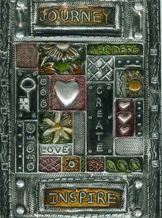 Elitia Hart -TSS Rock Star Black Metal Journal cover for Basic Metal Embossing Class.
