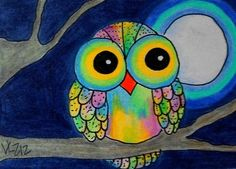 'A Colorful Owl' by Vicki Schmand