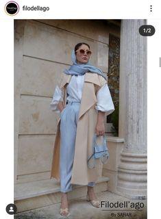 Iranian Women Fashion, Muslim Fashion, Hijab Fashion, Fashion Outfits, Womens Fashion, Fashion Ideas, New Outfits, Classy Outfits, Stylish Outfits