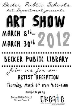 Art at Becker Middle School: Art Show