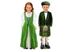 Meet Bree and Aidan from Ireland. Traditional Irish clothing just too cute!