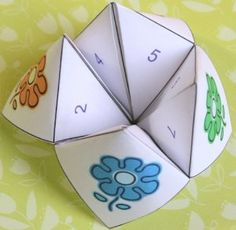 Free printable Cootie Catcher Mother's Day Craft for kids