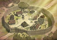 Med Village by Ekwal Fantasy city map Fantasy map Fantasy city