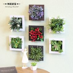 3D Artificial plants decoration stereo artificial flowers Wall Sticker vintage decorations Fake plants wall art Decor Frame #Affiliate