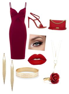 """""""Date Night"""" by thee-fashionista ❤ liked on Polyvore featuring Gianvito Rossi, Chanel, Oscar de la Renta and Stella & Dot"""