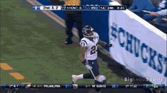 An Epic #CHUCKSTRONG praise from Arian Foster even after scoring a Touchdown as shown.