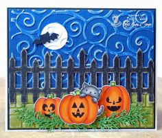 """Designed by Marilyn Webb featuring """"Autumn Blessings"""" stamp from http://www.kraftinkimmiestamps.com/"""