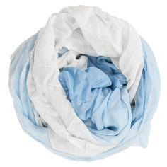 Faliero Sarti Seidenschal GINE in Weiß/Blau