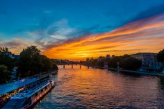 Beautiful sunset over the Seine river in Paris - Beautiful peaceful sunset over the Seine river in Paris, France #exclusive #photography #landscape #france #romantic #premium #love  #beautiful #best #boat #bridge #capital #city #dusk #europe #european #evening #famous #france #french #great #holiday #island #landmark #landscape #love #lovely #day #paris #peace #peaceful #river #romantic #sunrise #ship #sky #summer #art #tourism #tourist #travel #view #water #wonderful #sun #color #colorful