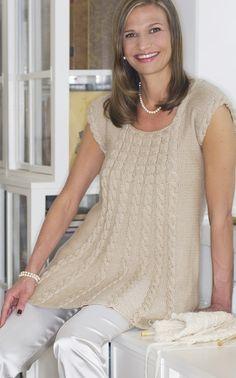 Novita Oy - Los suéteres: Mujer palmikkotunika