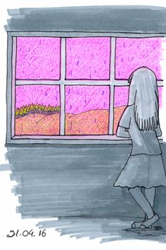 Desenho do Dia #59 - Purple Rain - Soraia Casal