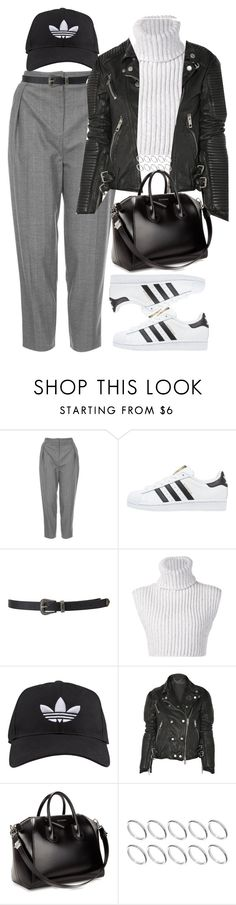 """""""Sin título #1081"""" by osnapitzvic ❤ liked on Polyvore featuring Topshop, adidas Originals, Forever 21, Baja East, adidas, Burberry, Givenchy, ASOS, women's clothing and women"""