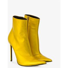 Alderbaran ankle boots (£740) ❤ liked on Polyvore featuring shoes, boots, ankle booties, metallic booties, leather high heel boots, short boots, leather boots and leather ankle boots