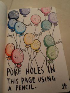 wreck this journal - ballons
